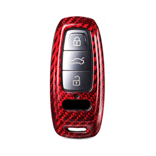 Husa Cheie Audi A8, A6, A7 Vetter Carbon, Glossy Red