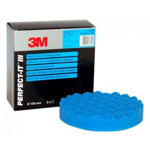 3M Perfect-it III Ultrafina High Gloss Pad - Pad Albastru Polish Finish 150 mm