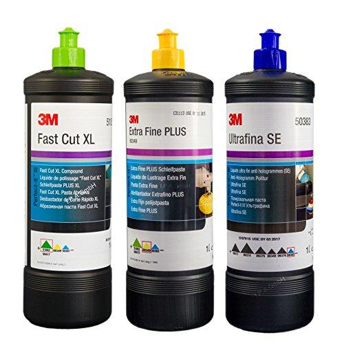 Kit Paste Polish 3M Fast Cut Plus XL,Ultrafina SE,Extra-Fine Plus,1kg