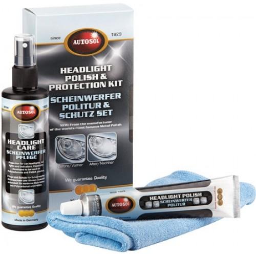 Autosol Headlight Polish & Protection Kit - Kit Polish & Protectie Faruri