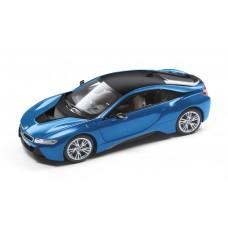 Macheta Auto BMW i8, Scara 1:18, Albastru