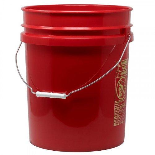 Galeata Spalare Auto Pro Detailing Grit Guard Bucket 19 litri, Rosu