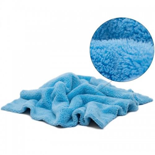 Laveta Microfibre fara Margini Pro Detailing Fluffy 550gsm,40x40cm,Albastru