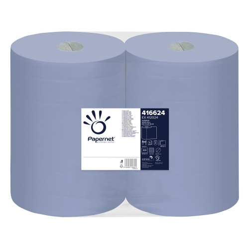 Rola hartie industriala inalta Papernet 3 straturi,500 portii,Set 2 role