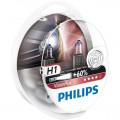Philips H1 Vision Plus 12V 55W - Set 2 Becuri Auto Far Halogen