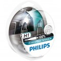 Philips H1 X-treme Vision 12V 55W - Set 2 Becuri Auto Far Halogen