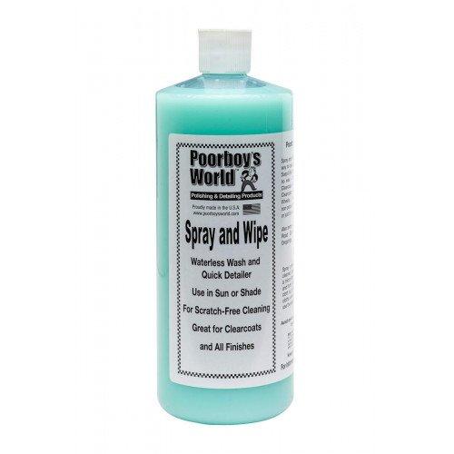 Solutie Detailing Rapid Poorboys World Spray & Wipe Waterless, 946ml