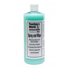 Solutie Detailing Rapid Poorboy's World Spray & Wipe Waterless, 946ml