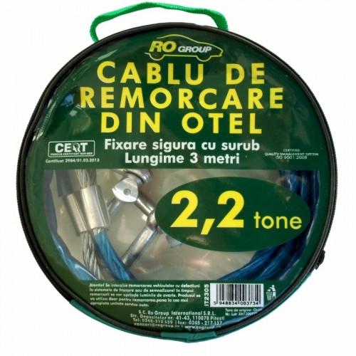 Cablu Remorcare din Otel RoGroup,Sarcina 2.2T