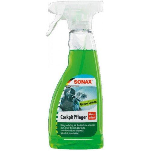 Sonax Cockpit Spray Matt Effect Green Lemon - Spray Curatare Bord Lamaie Verde