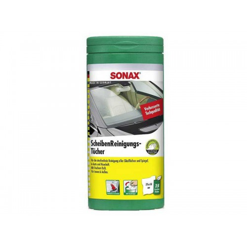 Sonax Glass Cleaning Wipes - Servetele Umede Curatare Geamuri