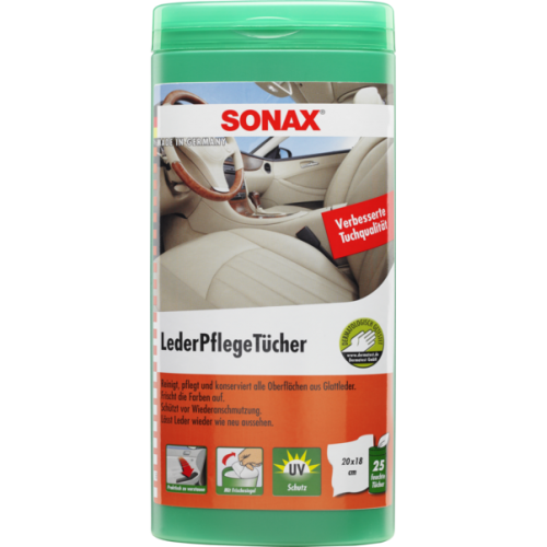 Sonax Leather Care Wipes - Servetele Curatare Piele