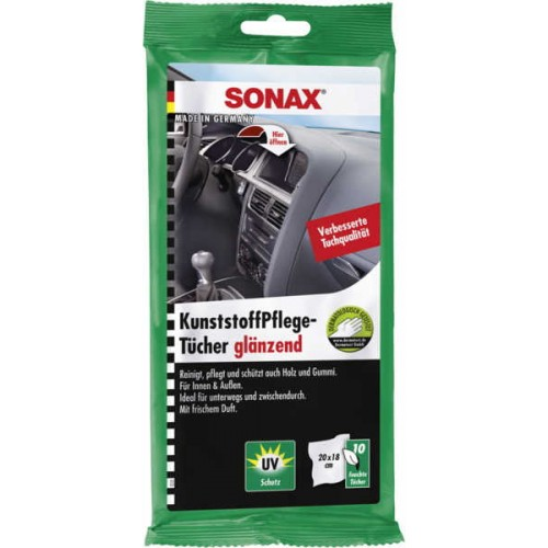 Sonax Plastic Care Wipes - Servetele Curatare Plastic