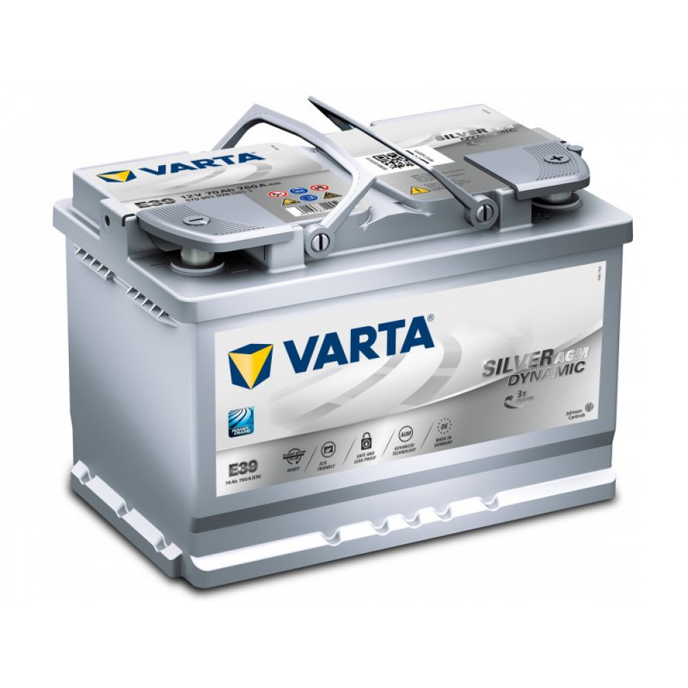 varta start stop plus agm 70 ah acumulator auto. Black Bedroom Furniture Sets. Home Design Ideas