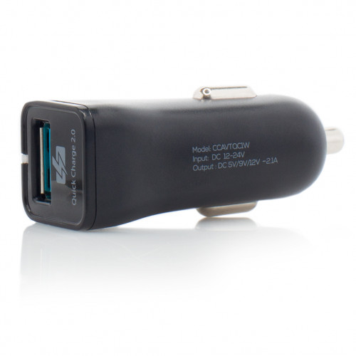 Incarcator Auto Vetter Fast Car Charger,Compatibil Qualcomm Quick Charge 2.0,Negru