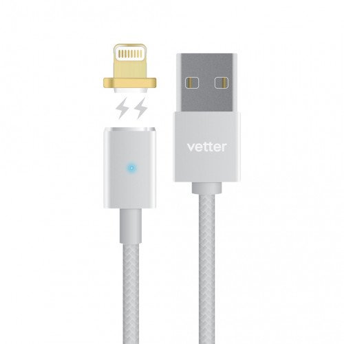 Cablu Date/Incarcare Vetter Magnetic Lightning Cable, Silver