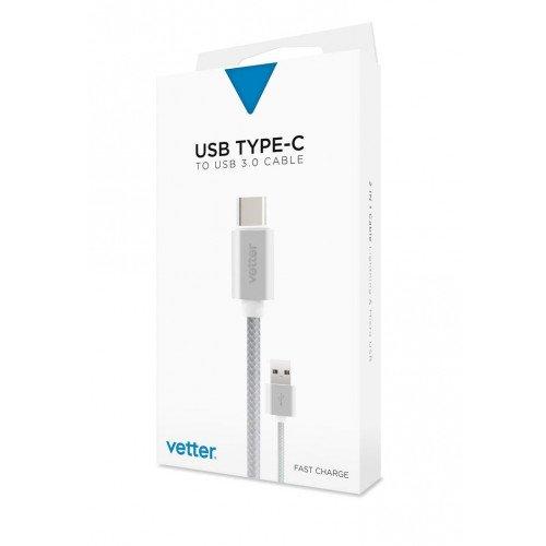 Cablu de date/incarcare Vetter, Type C to USB 3.0, Silver