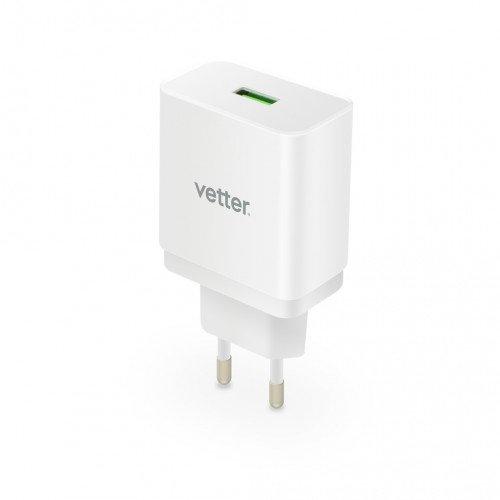 Incarcator de Retea Vetter Universal Travel Charger, Quick Charge 3.0, White