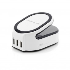 Incarcator Retea Wireless Vetter, All in One Charging Station, 1 x USB Quick Charge 3.0, 2 x USB Smart Output