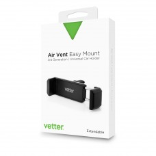 Suport Auto Universal Vetter Air Vent Easy Mount 3rd Gen, Negru