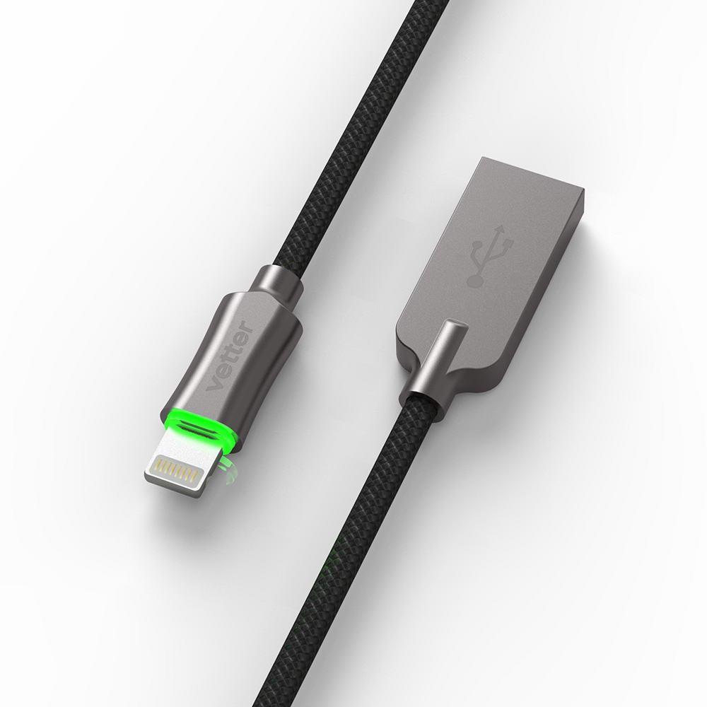 Cablu Vetter Smart Lightning Auto Disconnect Led Status