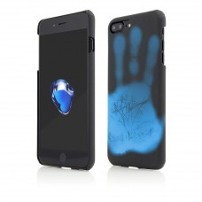 Husa Vetter iPhone 7 Plus, Clip-On Heat Sensitive, Color Changing, Black-Blue