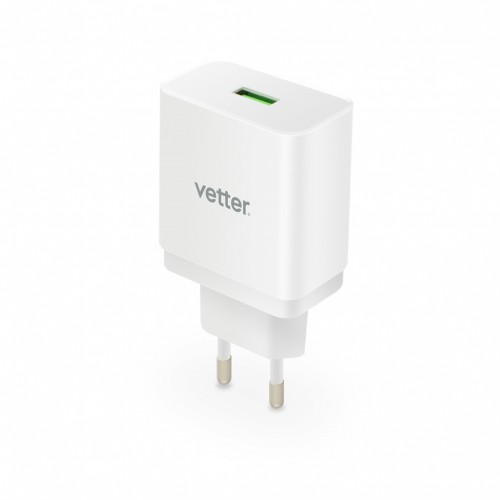 Incarcator de Retea Vetter Universal Travel Charger,Quick Charge 3.0,White
