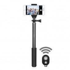 Selfie Stick Vetter Pro 2nd Gen, Bluetooth, Aluminum, Black