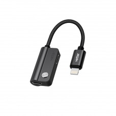Adaptor Audio Dual Lightning Vetter, Incarcare si Redare Audio, Negru