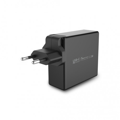 Incarcator retea Vetter Fast Travel Charger with PD,QC 3.0,Dual Port,60W,USB Type C,Black